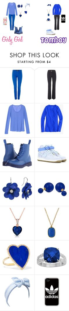 """""""Girly Girl vs. Tomboy: Catboy's Version"""" by sierra-ivy on Polyvore featuring Maison Scotch, J.Crew, Dr. Martens, NIKE, Bling Jewelry, Collette Z, NAKAMOL, Jennifer Meyer Jewelry, Beauxoxo and adidas"""