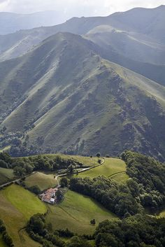 The Pyrenees. From hiking on the Camino De Santiago between St. Jean Pied De Port, France and Roncesvalles, Spain.
