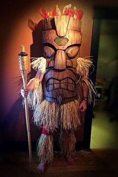 tiki god eva foam costume halloween costumes and make up Vintage Halloween, Halloween Fun, Halloween Decorations, Vintage Witch, Halloween Makeup, Maui, Tiki Man, Tiki Tiki, Tiki Statues