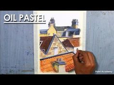 Oil Pastel Drawing : The Rooftops of the houses Oil Pastel Paintings, Oil Pastel Art, Oil Pastel Drawings, Pastel Paper, Colorful Drawings, Pencil Drawings, Oil Pastels, Rooftops, House Painting