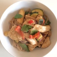 The Body Coach:Honey Almond butter Chicken noodles #Leanin15