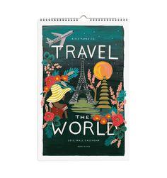 Rifle Paper Co: 2015 Travel the World Wall Calendar