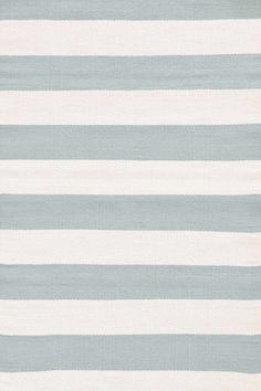 RugStudio presents Dash And Albert Catamaran Stripe Light Blue/Ivory Flat-Woven Area Rug