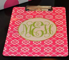 want one for SCO- too much??      Personalized Clipboards : Personalized Gifts - Preppy Monogrammed Gifts @ 2PreppyGirls.com