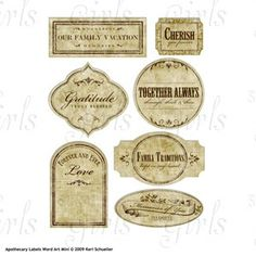 apothecary labels - Google Search