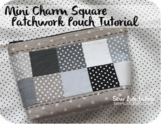 This is cute - Tutorial : Mini Charm Patchwork Pouch Fabric Gifts, Fabric Bags, Fabric Basket, Patchwork Bags, Quilted Bag, Small Sewing Projects, Wallet Pattern, Tote Pattern, Pouch Tutorial
