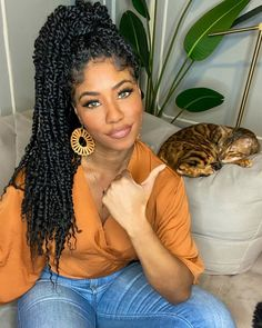 Passion twists crochet hair are a stunning, gorgeous, protective hairstyle that is cheaper and easier to create than some of the other popular styles. Twist Braid Hairstyles, Crochet Braids Hairstyles, Natural Hair Hairstyles, Medium Hair Braids, Braids For Black Hair, Twists, Twist Braids, Dreads, Curly Hair Styles