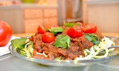 Zucchini Spaghetti with Savory Marinara Sauce. A classic raw food recipe, this is a light, refreshing and low-calorie take on one of Italian cuisine's staples.