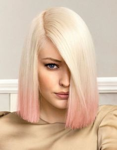 ombre hair blond pink zweiton haare schulterlang in ombre look