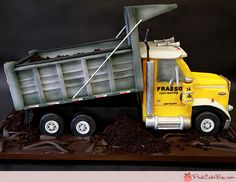 You searched for truck cake - Pink Cake Box Custom Cakes & Unique Cakes, Creative Cakes, Fancy Cakes, Cute Cakes, Dump Truck Cakes, Dump Trucks, Pastries Images, Pink Cake Box, Recipes