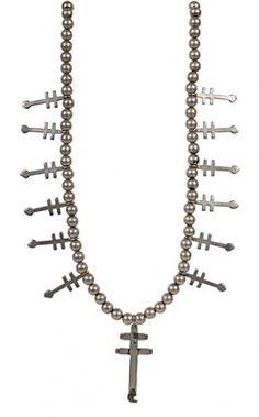 Navajo Silver Cross Necklace : Lot 14