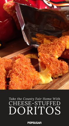 Basic mozzarella sticks will never taste the same after trying these cheese-stuffed Doritos. Creamy cheddar cheese battered in Doritos chips and deep fried to snacking perfection, could it get any better? Our step-by-step video will show you how to perfect this mouthwatering recipe at home.