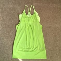 Neon Green Workout Tank Neon green workout tank with built in sports bra. Only worn a few times! Champion Tops Tank Tops