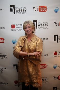 Martha Stewart in gold lamé? It's a good thing.
