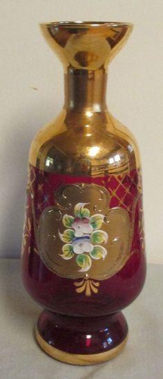 337 Best Bohemian Glass Vases Images On Pinterest Glass Vase Jars