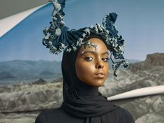 DENIM FOR EARTH Launching on Earth Day - 22 April - Moco Museum Fascinator, Headpiece, Denim Scraps, Red Beets, Best Portraits, Strapless Mini Dress, Recycled Denim, G Star Raw, Dress Making