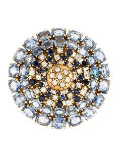 18K Sapphire & Diamond Pendant