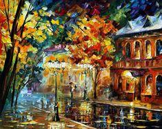 Hermosa ciudad hermosa pintura al óleo de por AfremovArtStudio