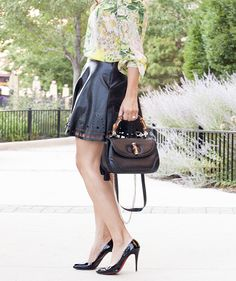 chic flavours: NastyGal skirt, ZARA shirt, Gucci purse and CL pumps