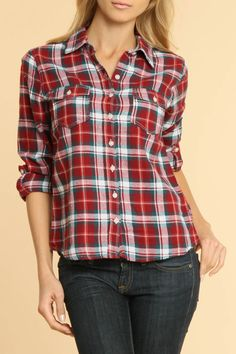 Coupe Flannel Shirt In Brick (there's just something about me that loves the home-grown style)