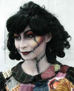 by Laura Tyler Doll Makeup, Sfx Makeup, Costume Makeup, Halloween Queen, Halloween Make Up, Halloween Face Makeup, Dark Fantasy Makeup, Comic Con Costumes, Halloween Costumes