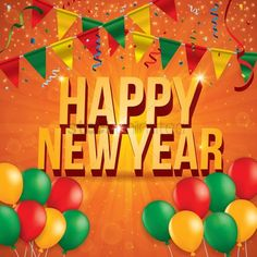 Happy new year : New year greeting