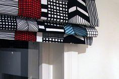 Marimekko curtains for kitchen.
