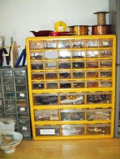Jewelry Studio Organization Tips Use Clear Cabinets For Storage
