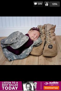 I'm so taking this photo when they come to visit with the new Army baby!