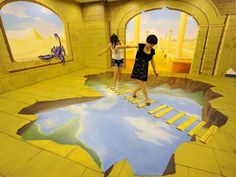 China: 8 artistas criam exposição de pintura 3D (EPA/STR CHINA OUT)