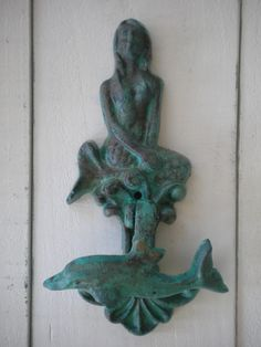 Mermaid and Dolphin Door Knocker - Cast Iron, certainly a love affair for me:)