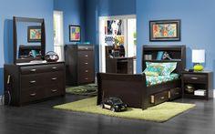 Kids Furniture-The Rachel Collection-Rachel Twin Storage Bed Boy Girl Bedroom, Boy Room, Modern Kids Bedroom, Bedroom Ideas, Twin Storage Bed, Mattress Sets, Sleigh Beds, Headboard And Footboard, Engineered Wood