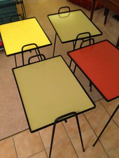 Mid Century Stackable Wrought Iron Tables
