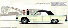 1963 Lincoln Continental Convertible - Promotional Advertising Poster