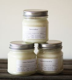 Mason Jar Scented Soy Candle   Scoutmob Shoppe