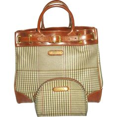 Polo Ralph Lauren Houndstooth Purse/Tote