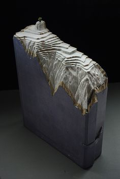 Guy Laramée - Laser carved books