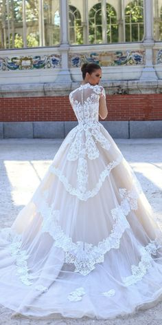Victoria Soprano 2018 Wedding Dresses ★ victoria soprano 2018 wedding dresses style princess lace beautiful backless high neckline with illusion long sleeves monique Sheer Wedding Dress, Wedding Dresses 2018, Princess Wedding Dresses, Elegant Wedding Dress, Perfect Wedding Dress, Wedding Dress Styles, Wedding Attire, Bridal Dresses, Dress Lace