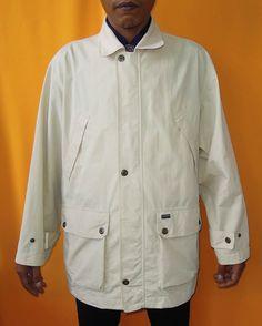 Zippo Jacket Vintage 90s Zipper Jacket Designer Solid Beige Cotton Workers Oversized Jacket (02/04) by InPersona on Etsy