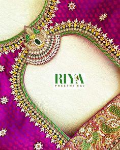 Choli Blouse Design, Hand Work Blouse Design, Wedding Saree Blouse Designs, Wedding Mehndi Designs, Simple Blouse Designs, Saree Blouse Neck Designs, Wedding Blouses, Maggam Work Designs, Border Embroidery Designs