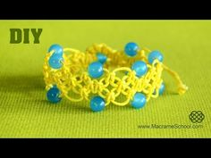 ▶ DIY Easy Celtic Style Square Knot Bracelet with Beads - YouTube