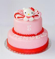 Hello Kitty cake Hello Kitty Cake, Desserts, Food, Hello Kitty Cake Design, Tailgate Desserts, Deserts, Essen, Postres, Meals