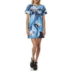 Blue Orchid Cotton Tee Dress By Stussy From SurfStitch.