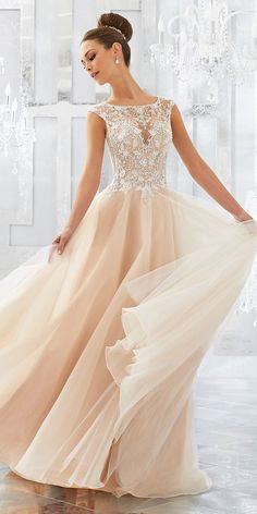 Mori Lee Wedding Dresses - 2018 Collection ❤ See more: http://www.weddingforward.com/mori-lee-wedding-dresses/ #wedding #dresses #2018 #morilee