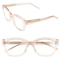 kate spade new york'tanya' 49mm reading glasses ($68) ❤ liked on Polyvore featuring accessories, eyewear, eyeglasses, acetate glasses, clear acetate glasses, kate spade eye glasses, clear eyeglasses and clear eyewear