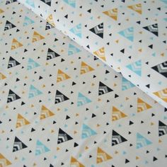 Chevron Triangles Jersey, Aqua
