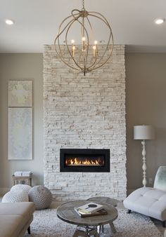 Best Free of Charge stacked Stone Fireplace Tips Cultured Stone® – Pro-Fit® Alpine Ledgestone, Winterhaven™ Stone Wall Living Room, Living Room With Fireplace, Living Room Decor, Bedroom Decor, Home Fireplace, Fireplace Remodel, Fireplace Design, Brick Fireplace Makeover, Easy Home Decor