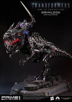 [PRIME 1 STUDIO] Transformers: A Era da Extinção – Estátuas do Grimlock e Optimus Prime