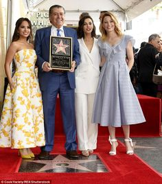 Becky G, Elizabeth Banks, Naomi Scott - Haim Saban Honored With a Star on The Hollywood Walk of Fame in LA - Celebrity Nude Leaked! Hollywood Boulevard, Hollywood Walk Of Fame, Naomi Scott Wedding, Elizabeth Banks, Press Tour, Celebs, Celebrities, Woman Crush, Celebrity
