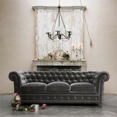 Adorn your abode with gray velvet pieces! Classic and elegant. (via indulgy)